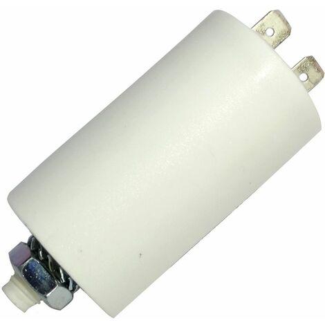 Condensateur permanent de travail pour moteur 8uF 425V avec cosses Ø32x55mm ±5% 10000h