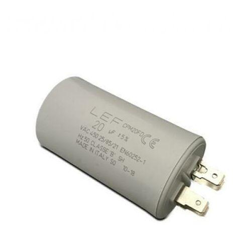 Condensateur plastique pour moteur 450v 16uf cpm16fd