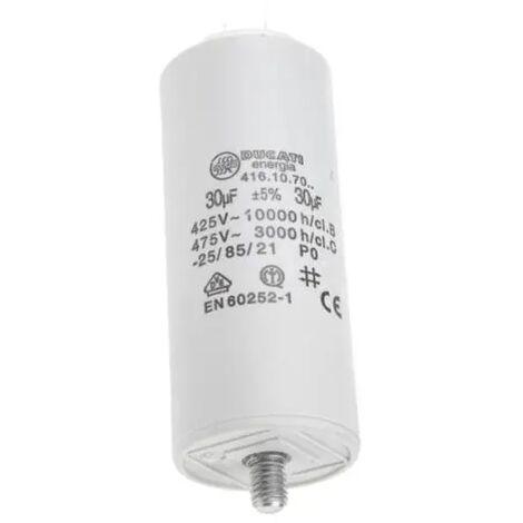 Condensatore per avviamento motori elettrici 30 MF  450 V