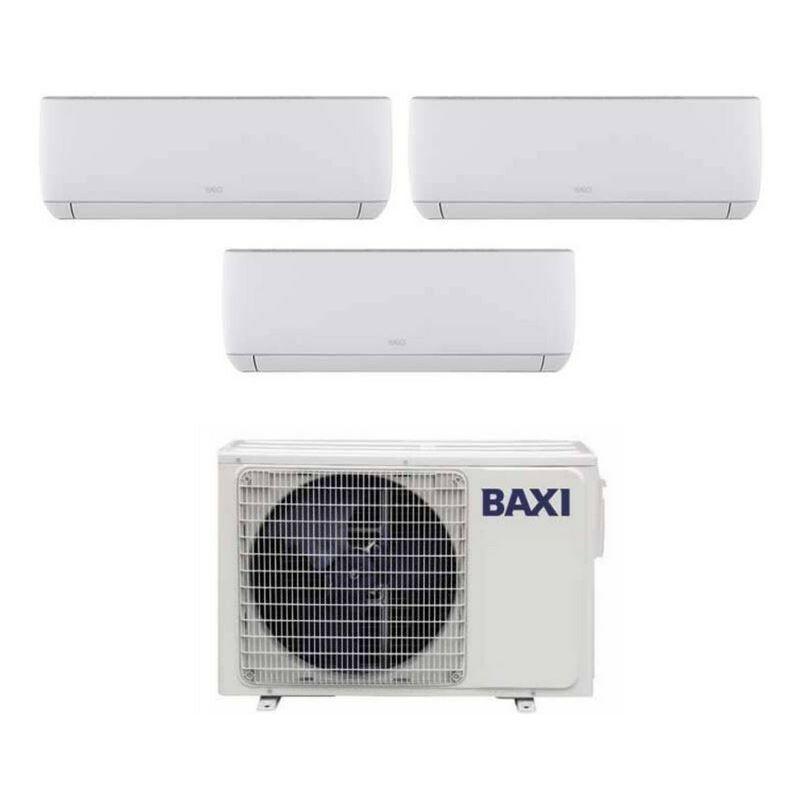 Caesaroo Condizionatore climatizzatore Baxi Astra trial split inverter R32 9000 + 9000 + 9000 BTU   Bianc