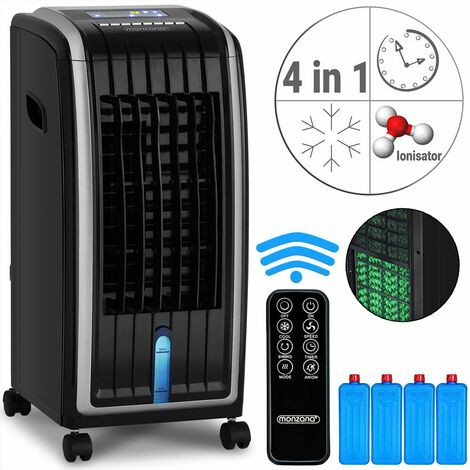 Condizionatore Portatile 4in1 con Serbatoio da 7L Super Silenzioso con Modalità Notturna Telecomando Umidificatore Ventilatore Climatizzatore Ionizzatore Refrigeratore