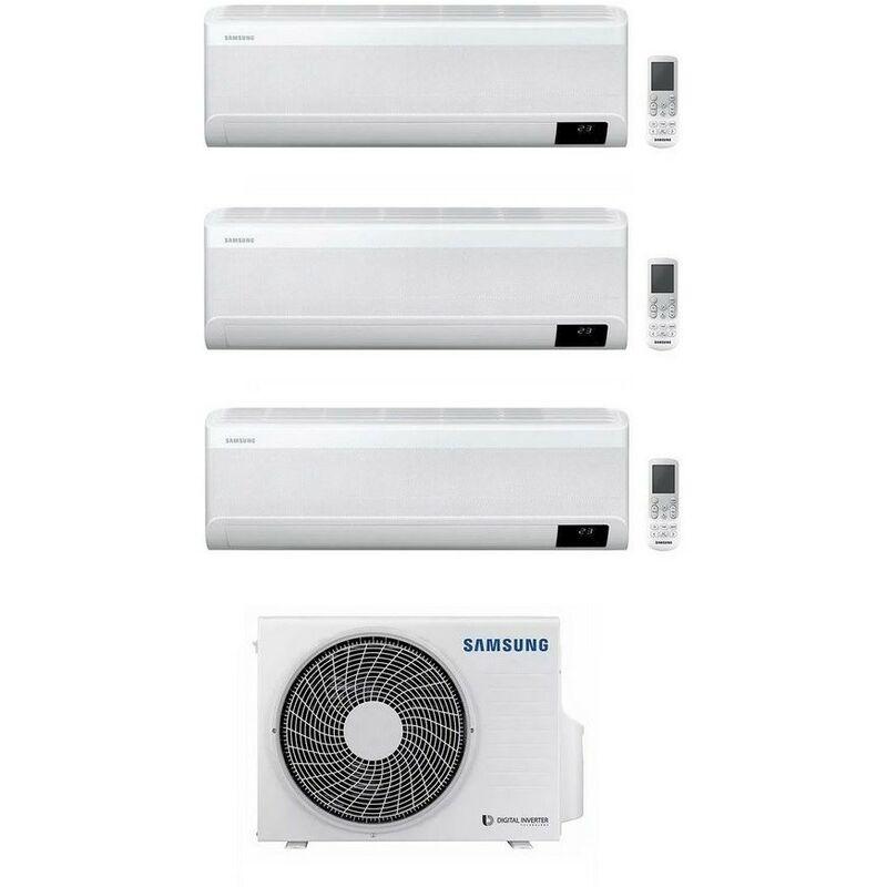 Caesaroo Condizionatore trialsplit Samsung Windfree avant da 9000 + 9000 + 9000 Btu con gas R32 Wifi   Bi