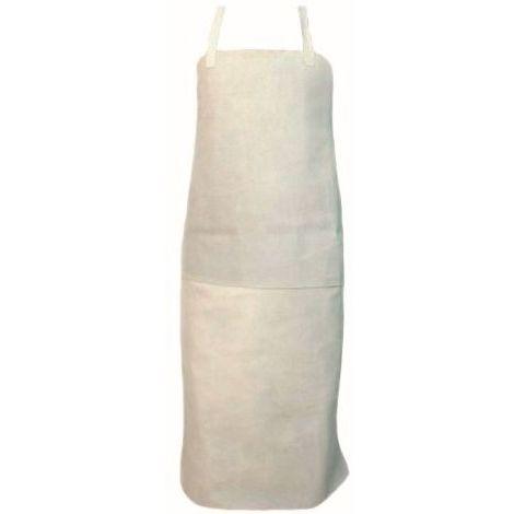 Condor Schutzkleidung Schweißer-Latzschürze Spalt Rindleder grau 90 x 60 cm Ledergürtel mit Metallschnallen ISO11611