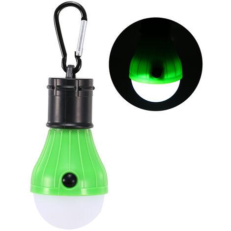 Conducido camping linterna con pilas de la cubierta exterior de la lampara de emergencia tienda portable de seguridad impermeables de color verde claro, oscuro