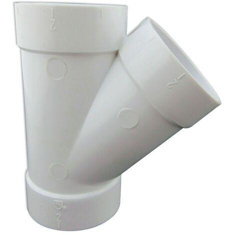 Conducto en Y 45º de PVC conexión Hembra - Hembra para Aspiración Centralizada