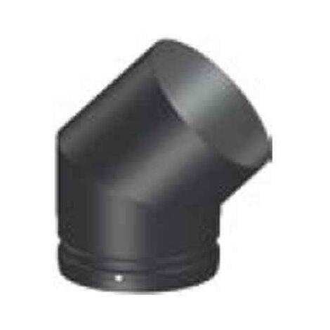"main image of ""Conducto modular Codo 45º humo chimenea negro deko leña Ø150"""