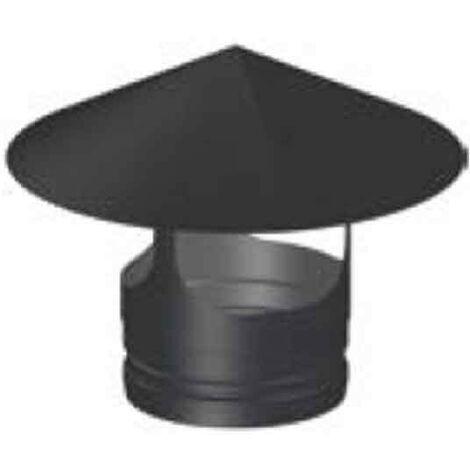 Conducto modular Sombrerete chimenea negro deko leña Ø150