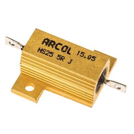 conductores axiales Arcol Resistencia HS255RJ 5ohms 25W