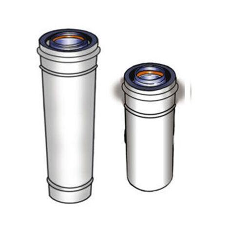 Conduit 80/125 ALU/PVC CONCENTRIQUE - Télescopique - Longueur réglable 50 - 300 mm