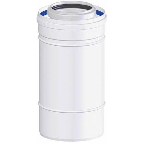 Conduit concentrique polypropylène TEN - Diamètre 60/100 - Longueur 500 mm - Tolerie Emaillerie Nantaise