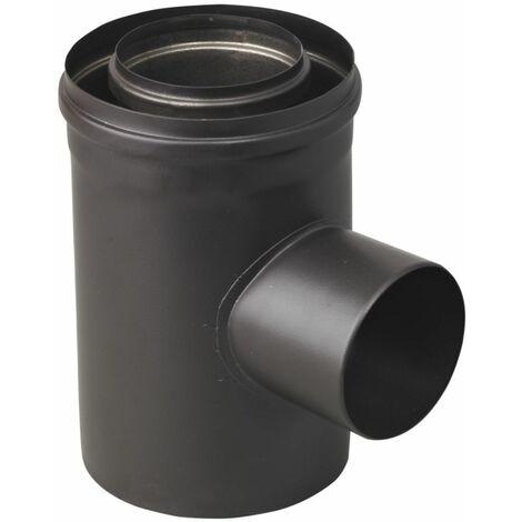 Conduit concentrique prise dair bioten d 80 / 125 piqué. D 80 spécial Pellet