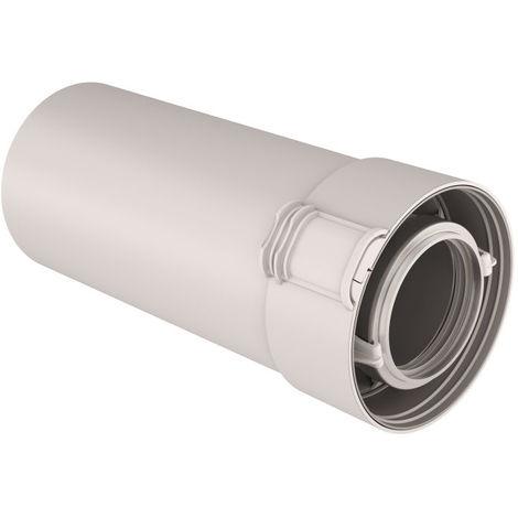 Conduit condensation consentrique PPTL/PVC Ø80/125 - gaz/fioul