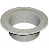 Conduit de ventilation métallique et le tuyau se terminant jusqu'à complet préopératoire élément de masquage 150mm de diamètre
