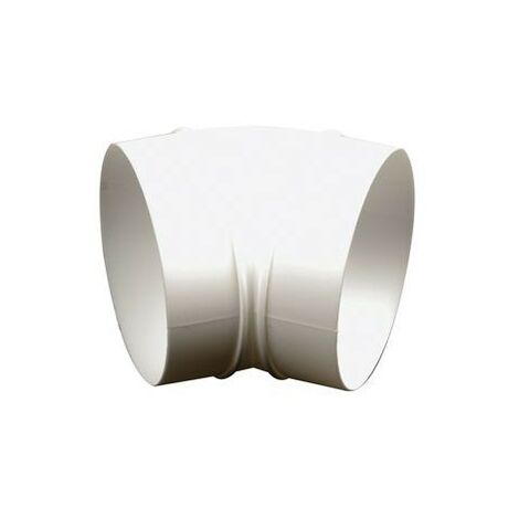 Conduit de ventilation tube rond système 100 coude arrondi 45°