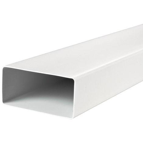 Conduit en PVC - 60 x 204 mm / Long. 1000 mm - Winflex Ventilation