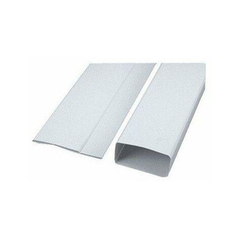 Conduit et accessoires PVC rigides ultra plats 55x110 TUB-PLA