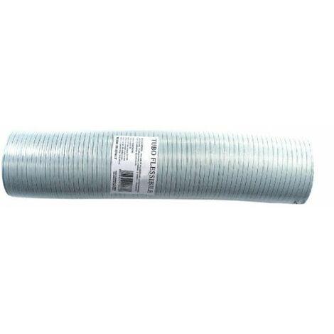 Conduit flexible aluminium extensible blanc 50mm 0,5-1,5 mt