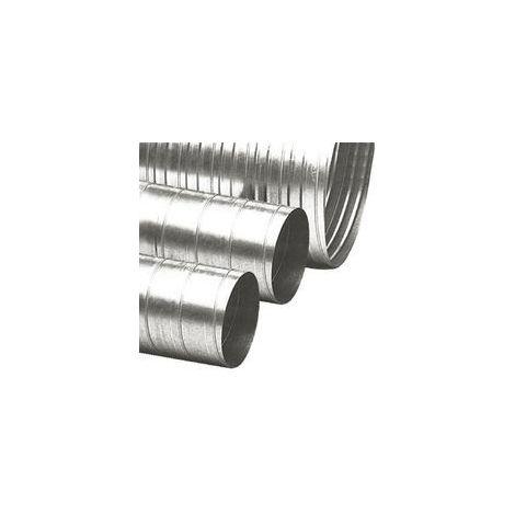 Conduit galvanise spirale longueur 3m diametre 125mm