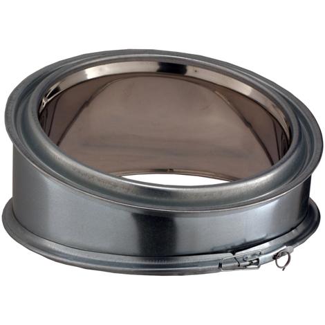 Conduit poujoulat interieur inox/galva element de coude 45° dn 230