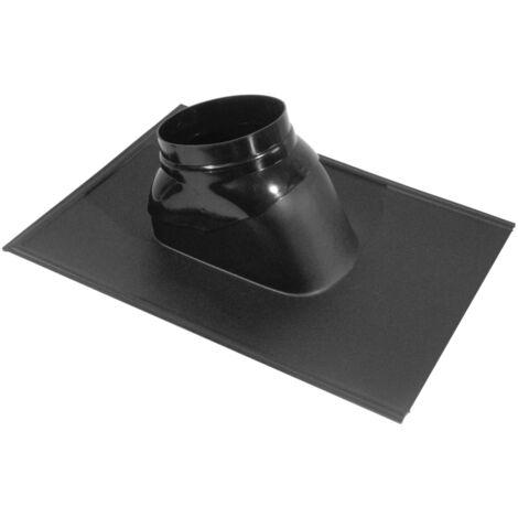 Solin plomb à rotule ubiflex pour toiture inclinée 25 à 45° Noir