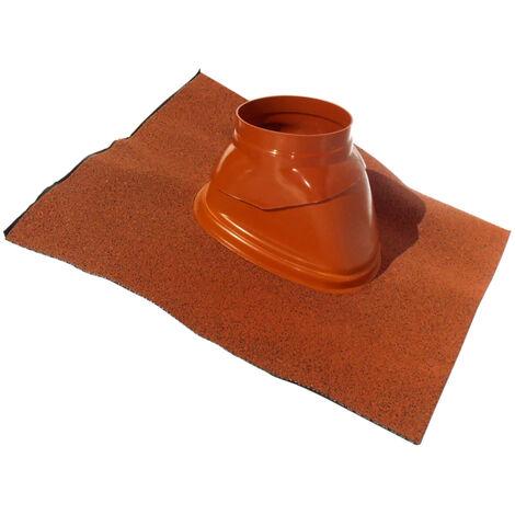 Solin plomb à rotule ubiflex pour toiture inclinée 25 à 45° Ocre