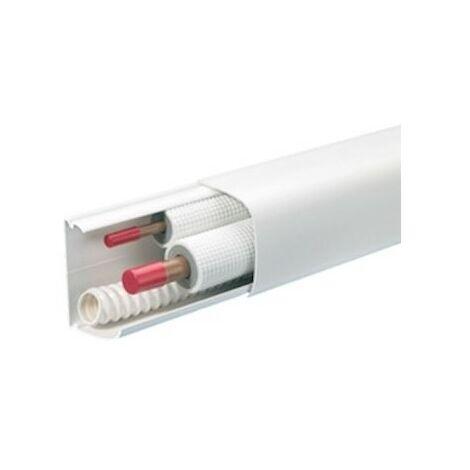 Conduit pour la climatisation CND 90x60mm - Barre de 2m - 1 compartiment - Blanc