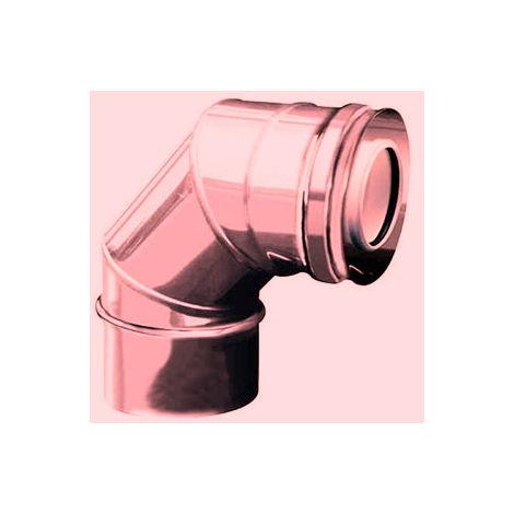 CONDUIT PPS-CUIVRE plastique DN 080/100 courbe 87 ° tube DP