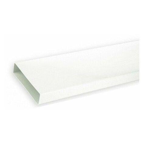 Conduit PVC rigide rectangulaire TPR 125 - Conduit extra-plat 55 x 220mm - Longueur 3m