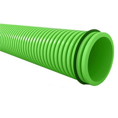 Conduit semi-flexible annelé rond Diam 90 mm au mètre - EconoFlex ECONONAME - CSFAR90 Déloté  Conduit PEHD au mètre. Mettez dans votre panier le nombre de mètres dont vous avez besoin.