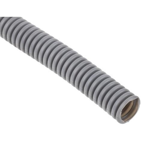 Conduit souple Flexible, Diamètre nominal 16mm, Matériau Plastique Gris, indice IP55