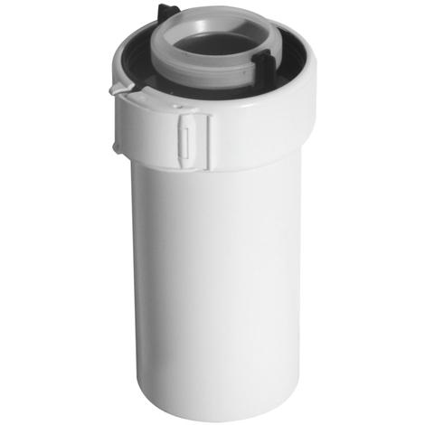 Conduit ubbink condensation gaz/fioul pptl/pvc 1000mm blanc 80/125