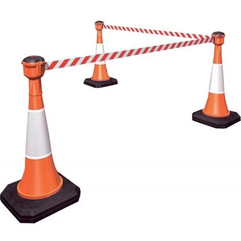 Cone de signalisation 1000 mm, orange artificiel avec réflecteur (1) (Skipper non inclus)
