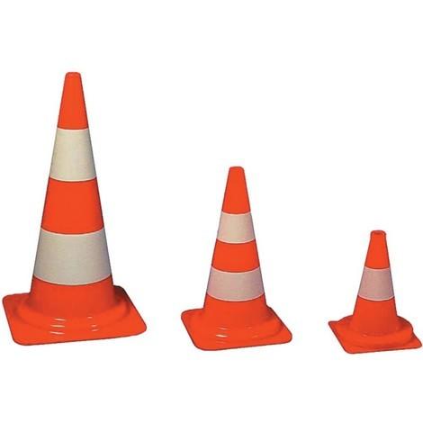 Cone de signalisation PVC orange, 750 mm
