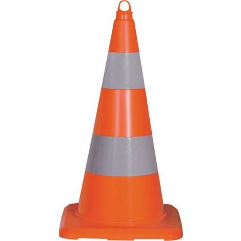 Cone de signalisation réfléchissant 500mm PVC orange