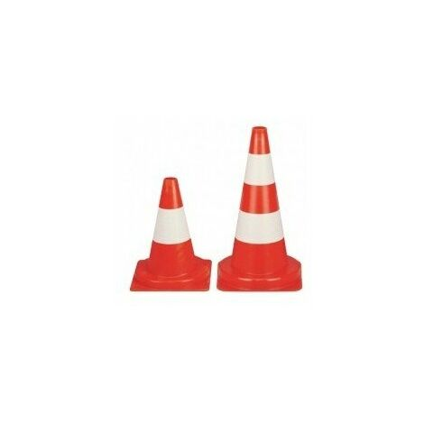 Cone signalisation blanc-rougebs50b