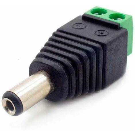 Conector Borne de conexión MACHO alimentacion tira led 12v DC