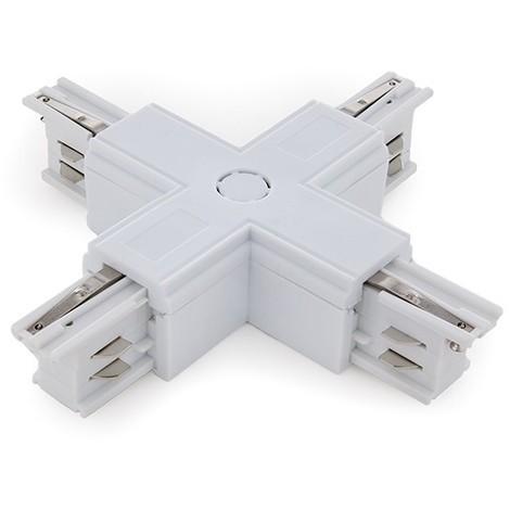 Conector + Carril Trifásico Blanco (JL-CON-+-T-W)