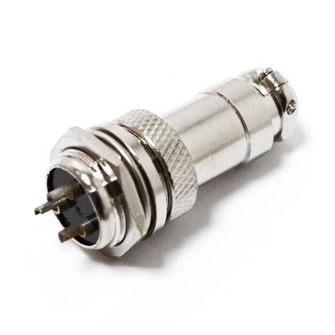 Conector de acoplamiento de soldador de 3 clavijas