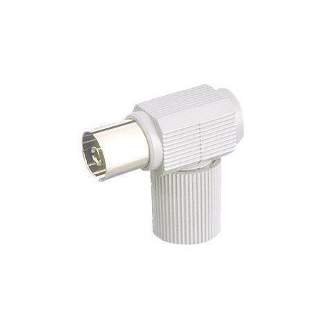 "main image of ""Conector de antena coaxial acodado Hembra Electro DH. Color Blanco 10.538/BL 8430552010356"""