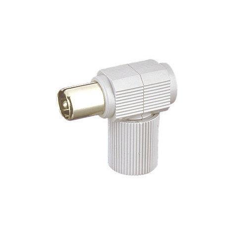 """main image of """"Conector de antena coaxial acodado Macho Electro DH. Color Negro 10.536/NE 8430552010349"""""""