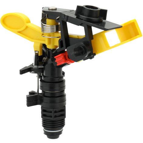 Conector de boquilla de pulverizacion de jardin, 4 pulgadas de rotacion de 360 grados,Amarillo