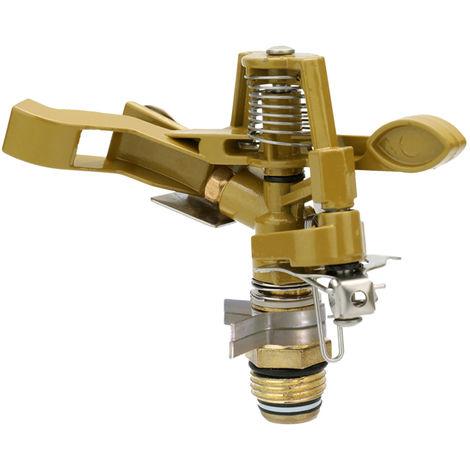 Conector de boquilla de pulverizacion de jardin, 4 pulgadas de rotacion de 360 grados,Dorado