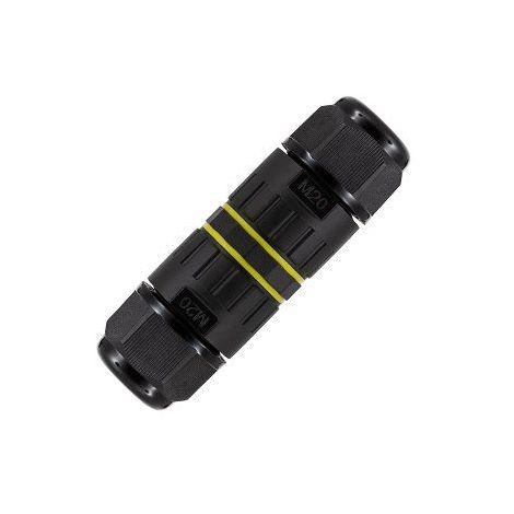 Conector de Cable Estanco 3 Contactos IP68 v2 Negro
