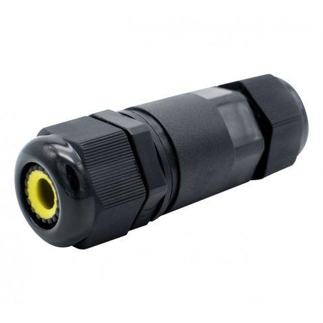 Conector de Cable Estanco IP68 0.5 mm² - 1.5 mm² Negro | IluminaShop