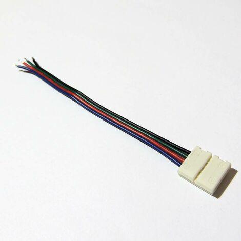 Conector de Tira LED 12V RGB 1 cm a cable