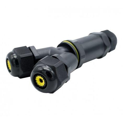 Conector de Cable Estanco Tipo Y IP68 0.5 mm² - 4 mm² Negro | IluminaShop