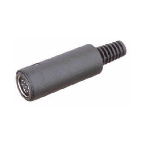 Conector hembra aéreo Mini-DIN. Electro DH. Con 6 contactos 10.636/A/6 8430552011490
