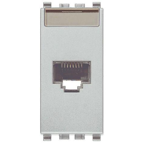 Conector hembra RJ45 Vimar Neto Seguro de Cobre de color gris 20339.11.N