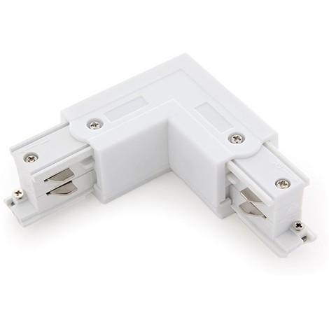 Conector L Carril Trifásico Blanco (JL-CON-L-T-W)