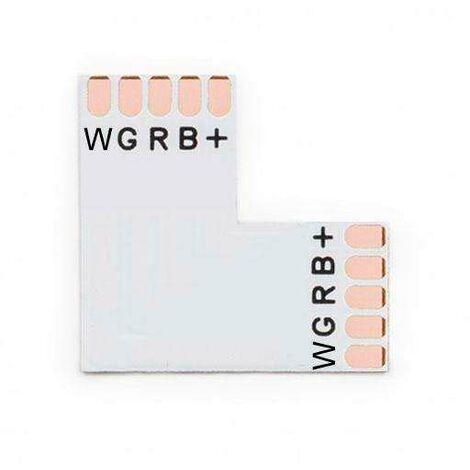 "main image of ""Conector L para tiras RGBW 5 Pin - 12mm"""